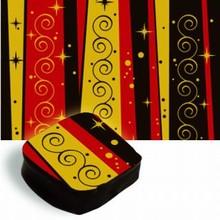 Feuilles de transfert motif rouge et or festif
