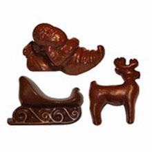 Moule chocolat Père Noël, traîneau et renne