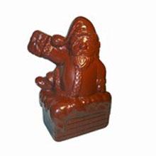 Moule chocolat double Père Noël dans la cheminée