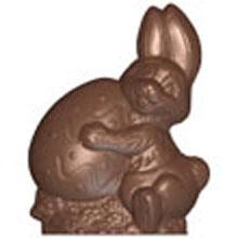 Moule chocolat double lapin de Pâques portant oeuf