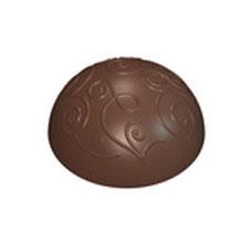 Praline demi sphère avec motif (30.5mm)