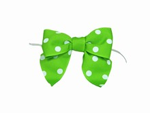 Green Polkadot Bow Twist Ties