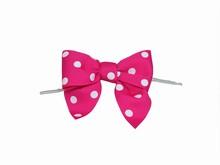 Bright Pink Polkadot Bow Twist Ties