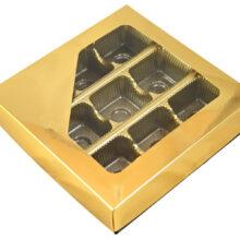 Boîte 1/2lb carrée, Or