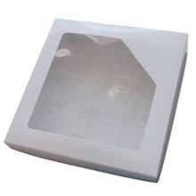Boîte 1lb carrée, Blanche