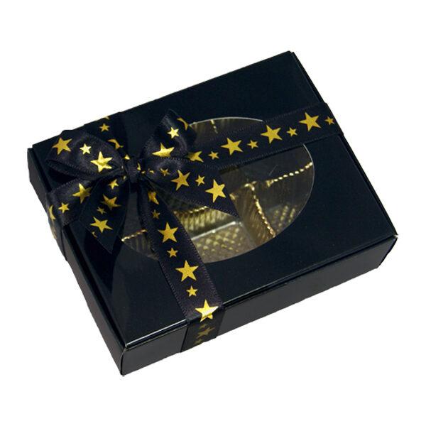 1/4lb Glossy Black Box