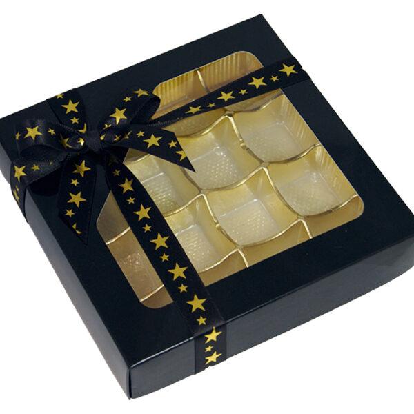Black, 1/2lb square box