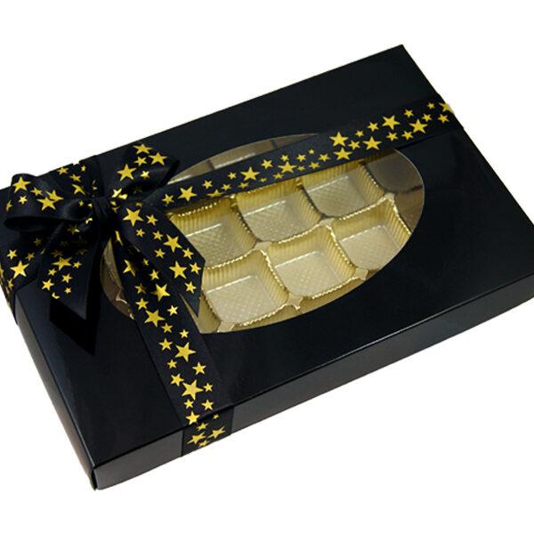 Black, 1lb rectangular box
