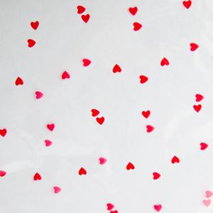 Sachet Géant Valentin avec motif petits coeurs rouges 20x29po