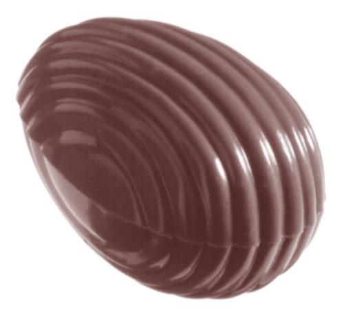 Moule chocolat double oeuf strié