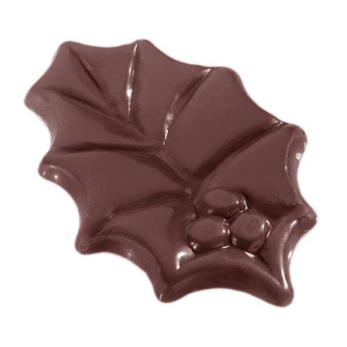 Moule chocolat feuille de houx