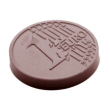 """""""1 Euro"""" Chocolate Mold Round Caraque"""