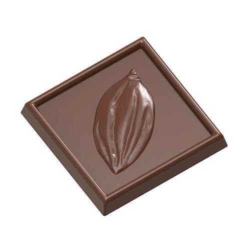 Moule chocolat caraque cabosse carrée