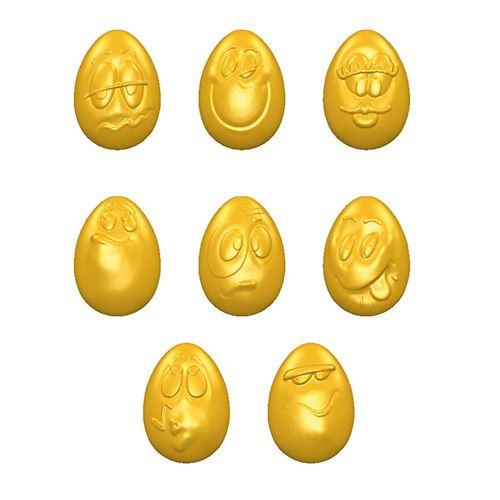 Chocolate Mold Smiley Eggs