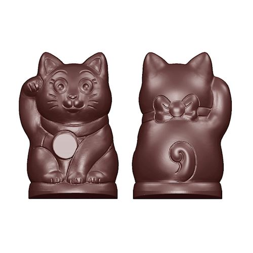 Beckoning Cat Double Chocolate Mold