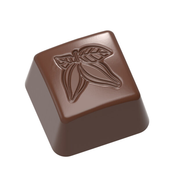 Moule chocolat bouchée carrée cabosse