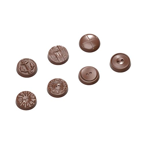 Assorted Buttons Chocolate Mold