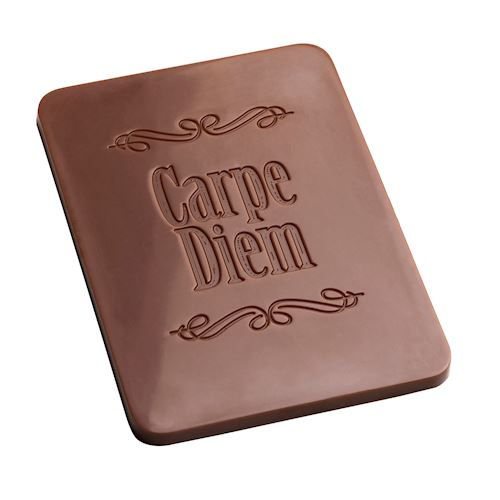 """Carpe Diem"" Rectangular Caraque Chocolat mold"