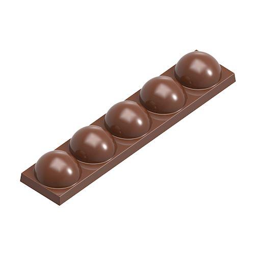 Moule chocolat barre bulles