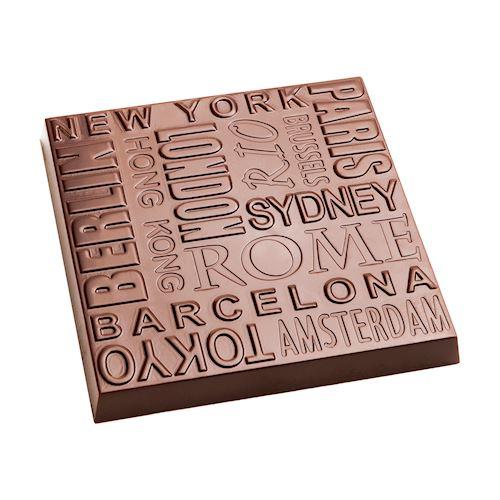 Moule chocolat Barre carrée grandes villes