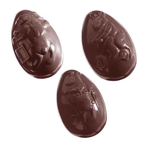 Double Chocolate Mold Easter Eggs