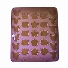 Tapis en silicone pour macarons souris, chat, fleur