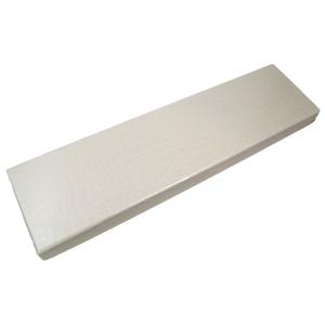 Boîte croco élégance blanche, 18ct