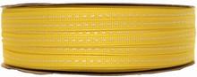 Ruban grosgrain lacet jaune (5mm)