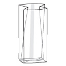 Sac cello transparent avec gousset (SB003X)