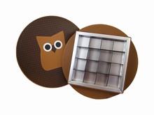 Round box, Hop the Owl, 16ct
