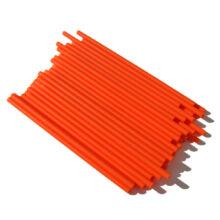 Orange Plastic lollipop sticks