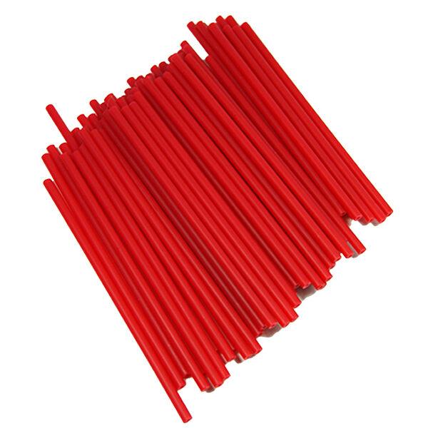 Bâtonnets de plastique à suçon rouge