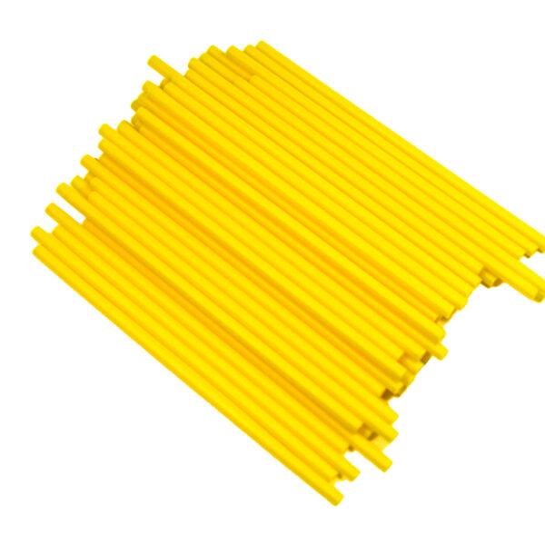 Bâtonnets de plastique à suçon jaune