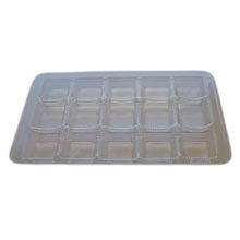 Clear 15pc plastic tray