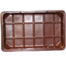 Brown plastic tray PETG