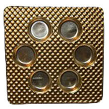Round gold 6ct plastic tray