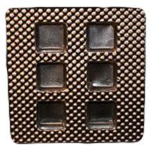 Cavité carré plastique 6mcx argent