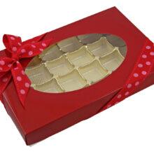 Red, 1/2lb square box