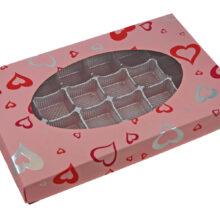 Valentine pink, Charme, 1lb rectangular box