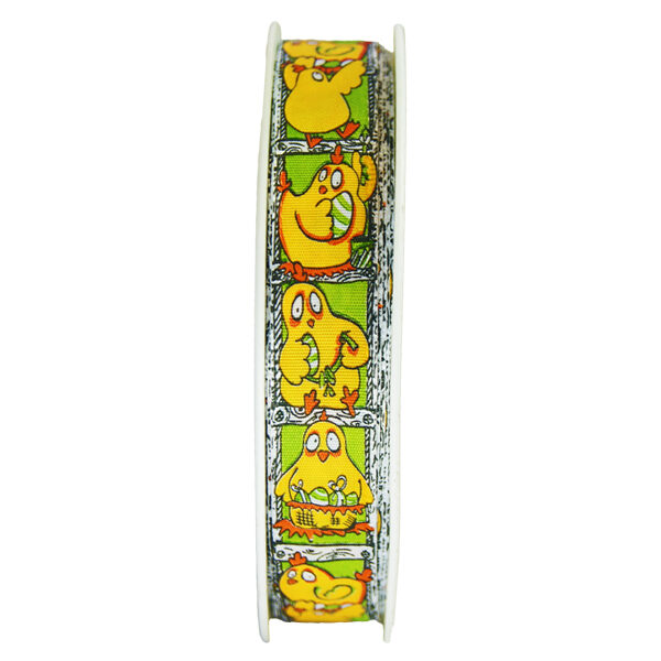 Yellow and Green Clothilde Ribbon 5/8in