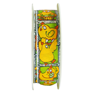 Yellow and Green Clothilde Ribbon,1in