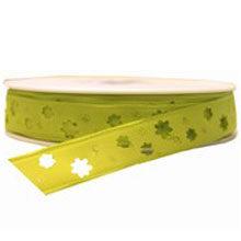 Light Green Flower Cutout Ribbon (0.5in)