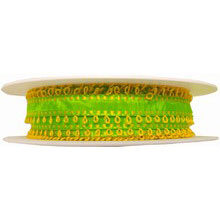 Lime Green Ribbon with Yellow Picots (0.5in)