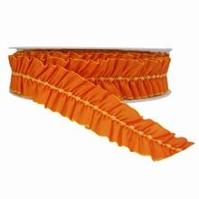 Ruban orange et jaune plissé (38mm)