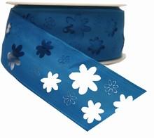 Sky Blue Flower Cutout Ribbon (1.6in)