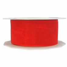 Sheer red ribbon 1.5in (40mm)