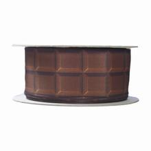 Ruban imprimé tablette chocolat (40mm)