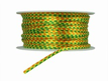 Green, Yellow and Orange Rope Ribbon (0.15in)