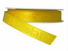 "Ruban monochrome jaune ""chocolat"" (15mm)"