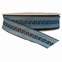 Brown Hellenic Pattern on Baby Blue (1.5)
